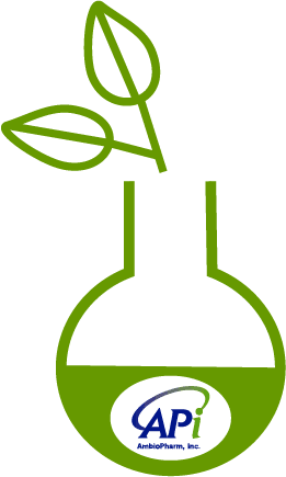 AmbioPharm green peptide chemistry round bottom flask icon